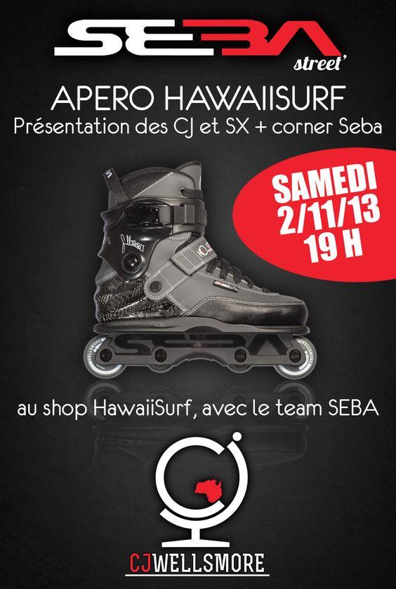 Soirée chez HawaiiSurf samedi soir au shop pour la sortie des Seba CJ et SX, avec le team Seba !
