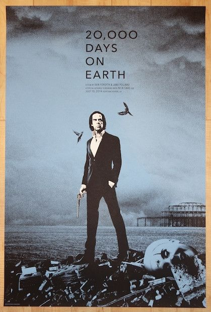 "2014 ""20,000 Days on Earth"" - Nick Cave LA Poster by Rob Jones"