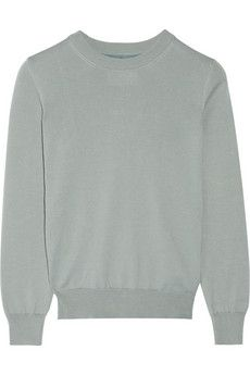 Maison Martin Margiela cotton + silk chiffon panel sweater