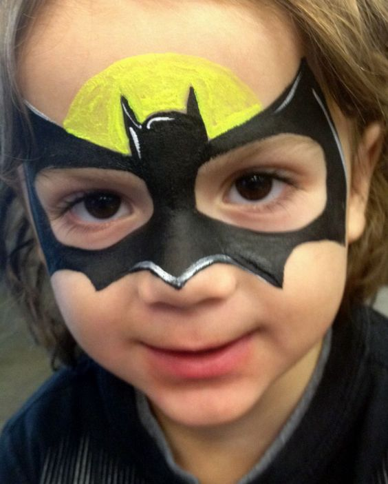 Boy bat | Face paint | Pinterest | Batman, Fledermäuse und Kind