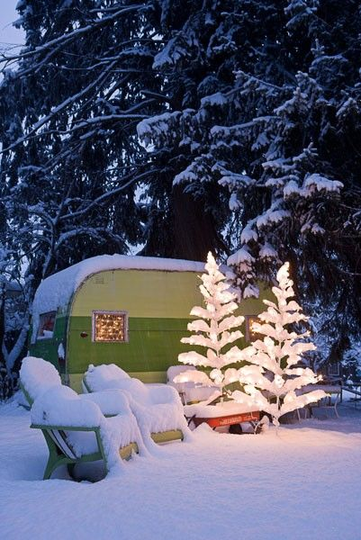 camping in the snow!