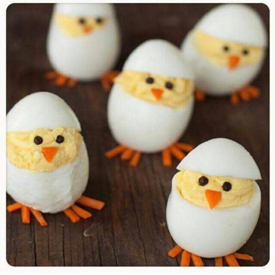 Pollitos de huevo: comida divertida