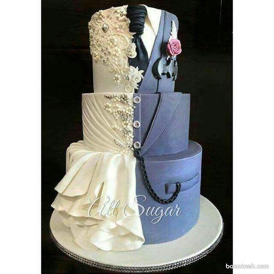 کیک جالب بزم نامزدی یا ازدواج