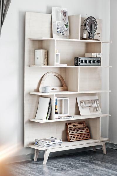 amazing light wood book case designed by loft szczecin minimal amazing light wood