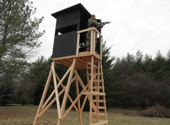 Diy deer stand thread tower deer stand project for Deer hunting platforms