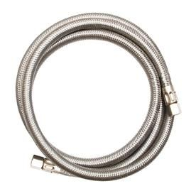 Eastman 5 Ft L 1 4 In Compression Inlet X 1 4 In Compression Outlet Stainless Steel Ice Maker Connector Stainless Steel Hose Ice Maker Appliance Accessories
