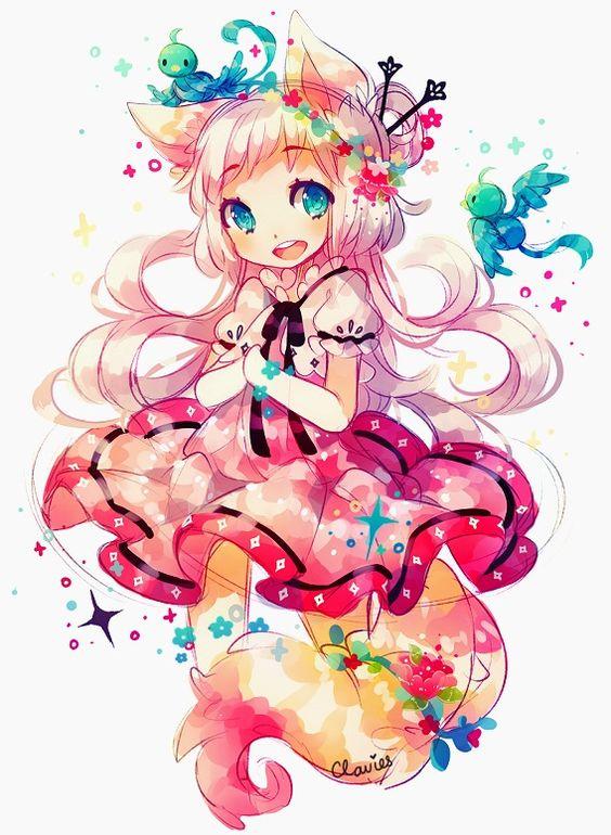 anime cute colorful girl - photo #41