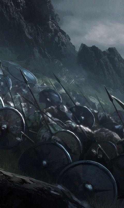 Vikings Warrior Battle Artwork Wallpaper In 2019 Viking