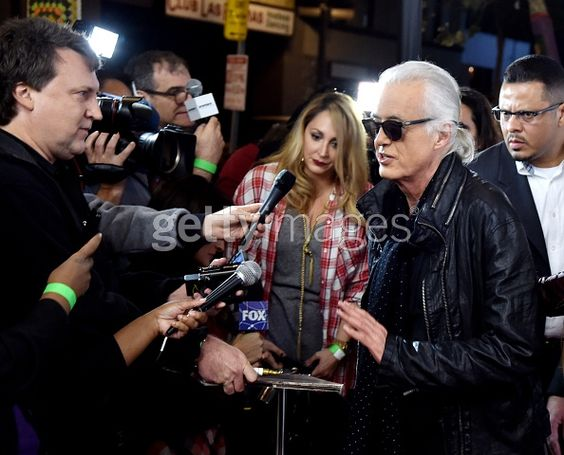 Jimmy Page arrives at 'An Evening With Jimmy Page And Chris Cornell In Conversation' at the Ace Hotel on November 12, 2014 in Los Angeles, California. (Photo by Kevin Winter/Getty Images)