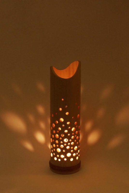 Bamboo Tea Light Holder Robustus S Tealight Bambooban Bamboo Candle Bamboo Candle Holder Bamboo Lamp