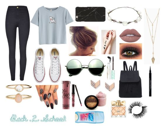 """Anyone else sorta exited"" by mrs-mousey on Polyvore featuring Converse, Revo, Lipsy, Lime Crime, Pacifica, Accessorize, FOSSIL, Kylie Cosmetics, Givenchy and Avon"