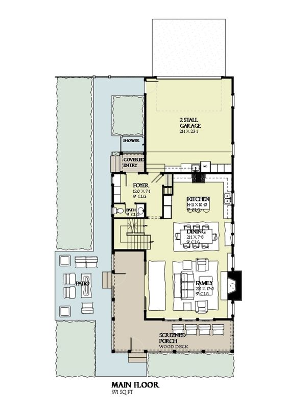 Beach style house plan 4 beds 3 5 baths 2769 sq ft plan for 200 sq ft deck