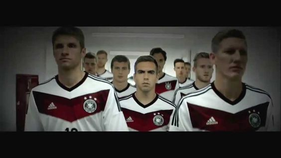 The German kit for World Cup as if Manchester United kit in 09-10 season with an eye-catching red V design