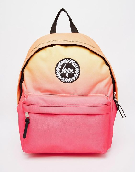 Image 1 ofHype Backpack in Pink and Orange Ombre