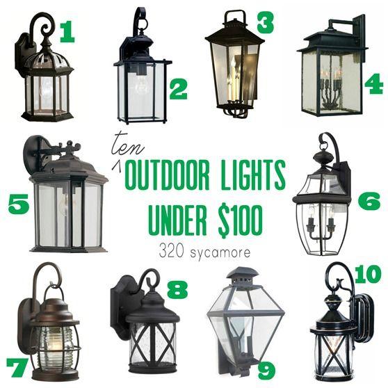 10 outdoor lights under $100