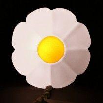 Luminária Flor (cabo verde) Branca Usare