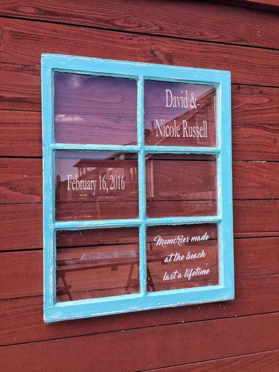 wedding windows - wedding decor - personalized wedding windows - picture window - picture frame window - wedding gift