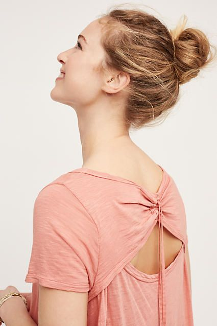 Tie-Back Tunic - anthropologie.com. $58. This color only :-(