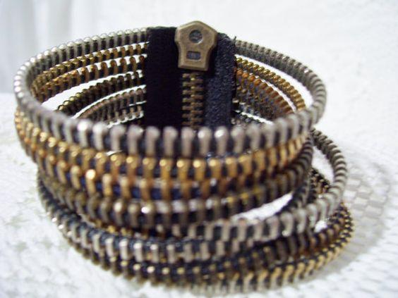 Awesome upcycled bracelet!