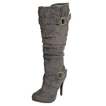 I found 'Glaze by Adi Women's Faux Suede Slouchy Tall Stiletto Boots -' on Wish, check it out!