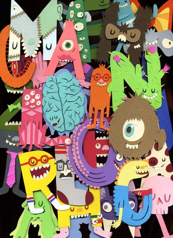 Monster letters ABC