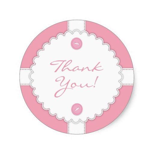 Thank You Baby Shower Dantel Sticker