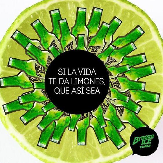 Si la Vida te da limones. Breeze Ice Vodka Limón