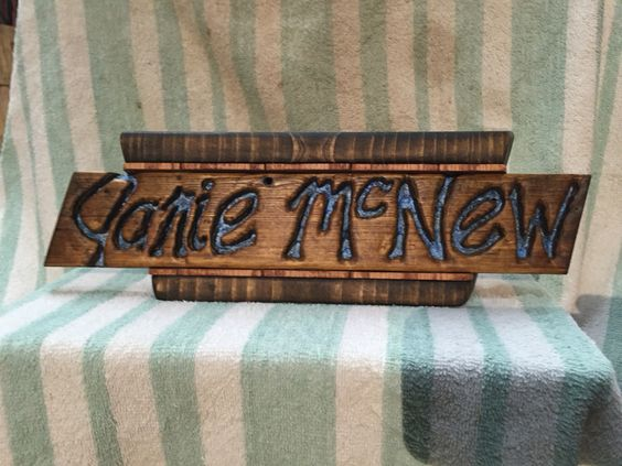 Desk plate I made for my aunt