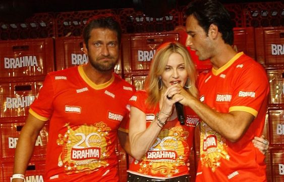 Gerard Butler, Madonna and Rodrigo Santoro - Sambódromo Rio de Janeiro, Brazil