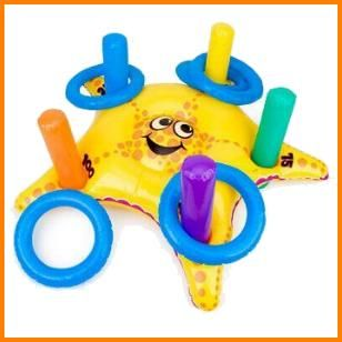 """Add some fun to your Bubble Guppies party with an Inflatable Starfish Ring Toss Game. Safe to use indoors, outdoors and in the pool (when summer finally gets here!). Includes a 29"""" inflatable starfish, 5 inflatable rings and 5 inflatable posts. $7.99 Cdn http://www.allthatstuff.net/BubbleGuppies/bubble-guppies-party-supplies.html"""