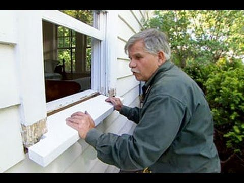How to replace a rotted windowsill this old house youtube home tips pinterest epoxy How to replace an exterior window