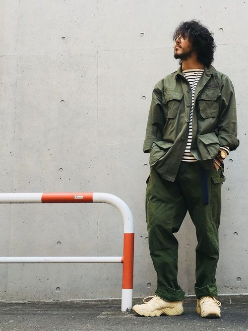 crementy ミリタリージャケットを使ったコーディネート wear ミリタリージャケット ジャケット ミリタリー