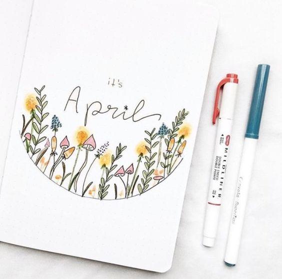 30 idées de Bullet Journal pour avril