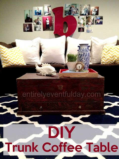 Diy Trunk Coffee Table This Used To Be An Old Tool Chest Diy Home