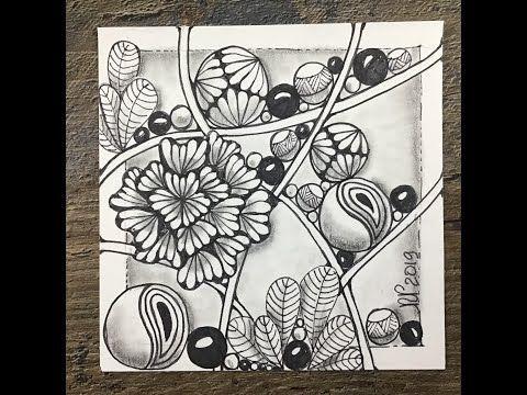 Easy Zentangle Meditative Art Ginili Grapes Kuke Youtube In 2021 Easy Zentangle Zentangle Drawings Zentangle Patterns