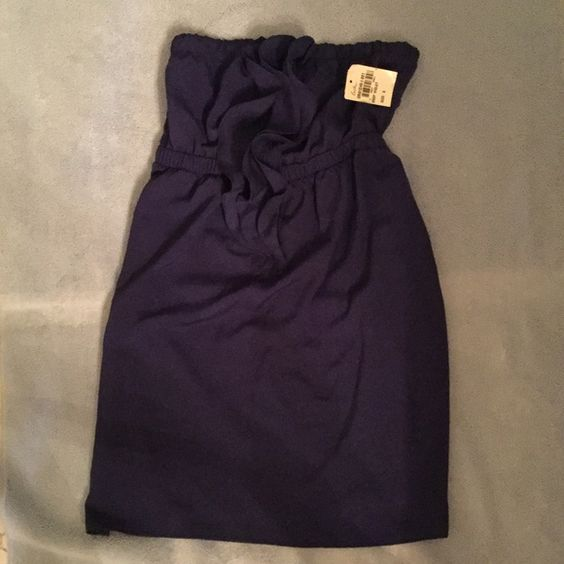 Brand New Nordstrom Blue Dress Strapless royal blue dress with frills. Cinches at the waist. Brand new with tag Lush Dresses Strapless