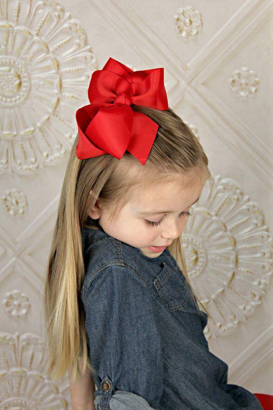 "10-6/"" Large Hair Bows Boutique Girls Baby Toddler Grosgrain Ribbon Alligatorclip"