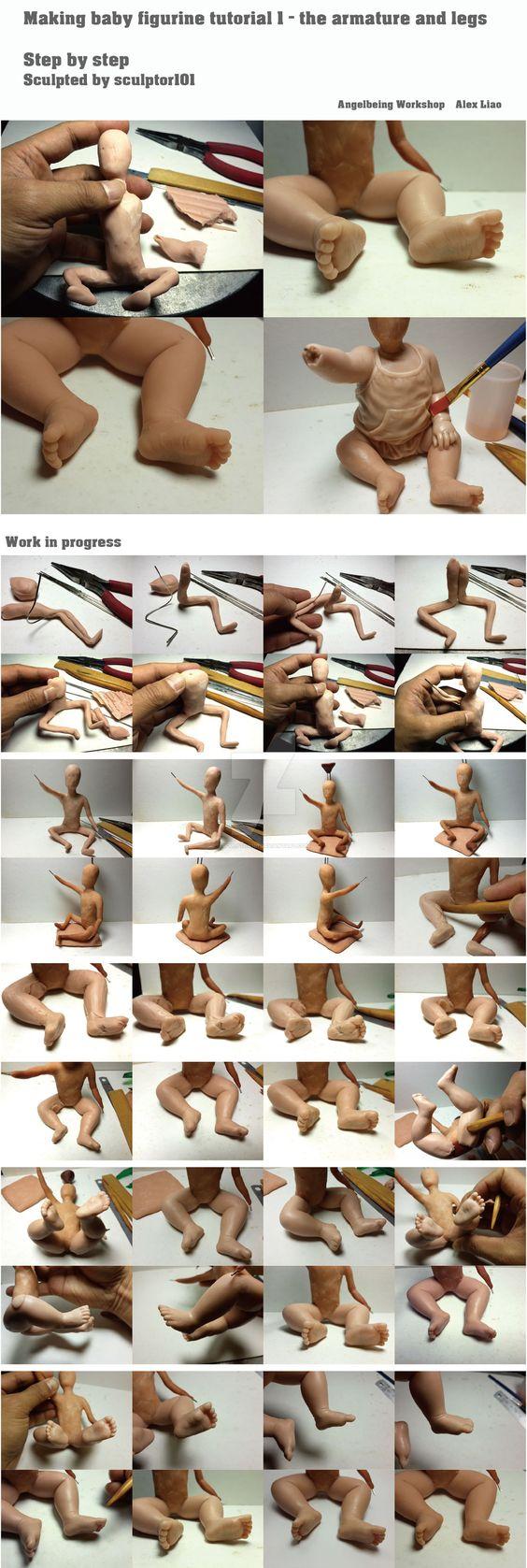 Making baby figurine tutorial 1 by sculptor101.deviantart.com on @DeviantArt