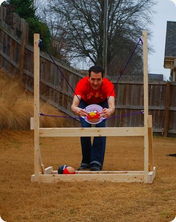 Angry Birds catapult for birthday parties: