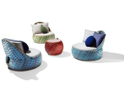 Chic Outdoor Furniture Made from Recycled Packaging, African Style