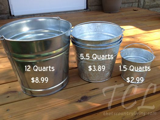 Where to Find Galvanized Steel Buckets for a Pony or Farm Party