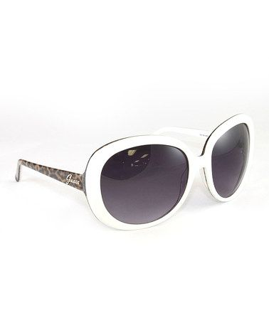 Take a look at this White & Leopard Sixties Sunglasses - Women by GUESS on #zulily today!