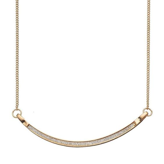 LC Lauren Conrad Curved Bar Link Necklace, Women's, Ovrfl Oth