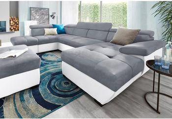 Delife Couch Jerrica Grau Schwarz 325x220 Schlaffunktion Online Kaufen Otto Wohnen Wohnlandschaft Sofa Wohnlandschaft