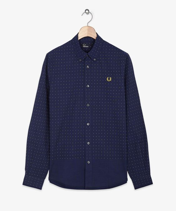Fred Perry Polka Dot End On End Shirt