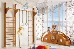 Kletterwand im Kinderzimmer - moderne Gestaltung