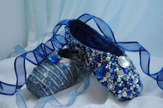 Rhinestone pointe shoes.