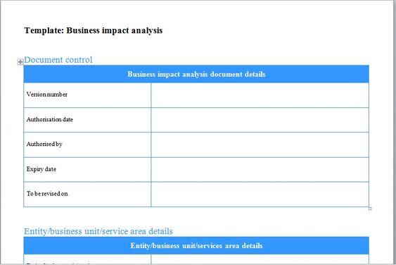 business impact analysis template Excel Templates Pinterest - bank account reconciliation template
