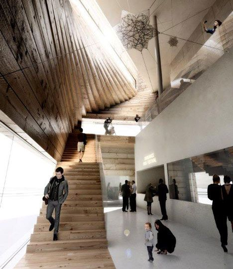 The Kimball Art Centre by BIG, love the visuals and design... they love to twist their structures!