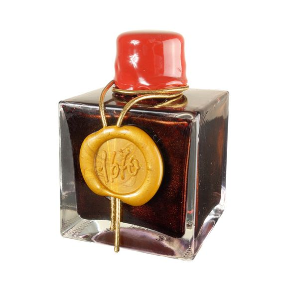 J.Herbin 1670 Anniversary Ink Rouge Hermatite  Deep red with gold sheen: